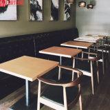 Restaurante sofisticado mobiliário de madeira sólida cadeira de mesa definir