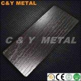 Decoratief het In reliëf maken van Roestvrij staal 304 Blad met Ti-Zwarte Kleuren