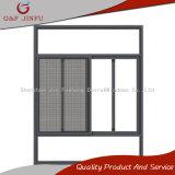 Vidrio gris de aluminio Windows de desplazamiento del doble del perfil con la pantalla del insecto