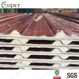腐食性のプラント家禽のための20mm PUの屋根サンドイッチパネル