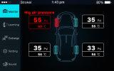 iPhone Gebruik 4 het Zilveren Interne Gebruik Bluetooth APP TPMS van de Auto van Sensoren met Ontvanger USB