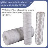 ヤーンの糸の傷PP/Fiberglass/Cottonミクロンのカートリッジフィルター10/20/30/40/50インチ