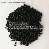 El PE reciclado Masterbatch Masterbatch del negro de carbón para los bolsos de la película que soplan y de basura