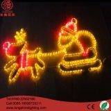 LED, die 2.5*1.2m 3D Rose Motiv-Licht-Weihnachtsdekoration-Lichter beleuchtet