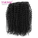 Vigin Cabello Humano Kinky Curly Clip Hair Extension
