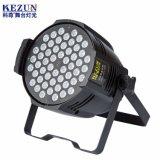 64 PAR LED DMX RGB LED de iluminación de escenario para la venta de Luz PAR 54X3w Parcan LED