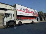 30sq. M de Professionele Mobiele LEIDENE van de Vertoning van de Levering Openlucht Mobiele Vrachtwagen van de Reclame toont Voertuig met Vouwbaar Stadium