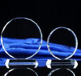 Металлическая пластинка пожалования трофея экрана высокого качества ясная стеклянная кристаллический с основанием