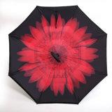 Omgekeerde & Omgekeerde Paraplu voor het OpenluchtGebruik van de Regen van de Auto, WindParaplu van de Reis van de Paraplu van het Golf van de Reclame de Openlucht anti-Uv voor Voor alle weersomstandigheden
