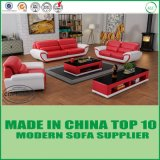 Il sofà di legno di cuoio sezionale di svago ha impostato per la casa