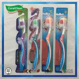 La maniglia unica Tonguecleaner Du Pont morbido rizza il Toothbrush dell'adulto