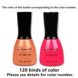 무료 샘플 15ml UV 색깔 외투 다채로운 못 젤 폴란드어