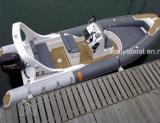 Liya 20ft coque rigide en fibre de verre bateau gonflable vente de bateaux de sauvetage