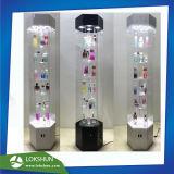 LED 빛, 회전시키는 아크릴 향수 진열대 OEM 공장 중국을%s 가진 자전 4 편들어진 아크릴 장식용 전시