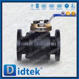 """Pequeño Didtek 1-1/2"""" pulgadas forjado fundición de acero, 150lb asiento de metal de la válvula de bola flotante con la palanca"""