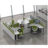 Sitio de trabajo de madera abierto modular moderno del ordenador de 6 personas
