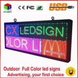 """Rádio do sinal do diodo emissor de luz de P6 RGB e de rolamento 40 do USB indicador de diodo emissor de luz Full-Color ao ar livre da polegada """" X18 """" programável da informação"""