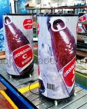 Refrigerador de vidro do indicador da porta da borboleta com o sistema diretamente refrigerando feito em China