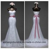 Buntes und reizvolles Nixe-Hochzeits-Kleid mit Riemen