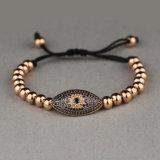 14K de gouden Kwade Armband van het Oog voor Mensen, Douane Gevlechte Armband Msbb016