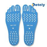 Garniture protectrice imperméable à l'eau de pied de chaussettes de plage de semelle intérieure raide invisible unisexe de pied