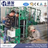 Plate-forme de forage de petit puits portatif populaire chinois d'eau profonde (hf180j)