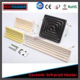 Calefatores elétricos radiantes cerâmicos de infravermelho distante com tipo sensor de K