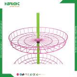 Estante de visualización rotatorio del juguete redondo del metal