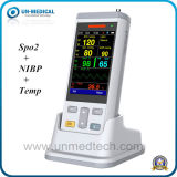 O oxímetro de pulso veterinário portátil de mão o sangue animal Monitor com SpO2+Temp