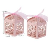 Caja de regalo de boda caramelos dulces a favor de las cajas con cinta de opciones de decoración del partido