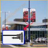 Улицы из нержавеющей стали лампа полюс рекламный баннер подвеску (BT37)