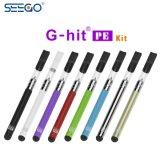 De populairste g-Klap Seego PE Pen van Vape van het Glas van Pyrex