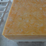 装飾の石12mmの黄色く半透明な樹脂のパネル(M171127)