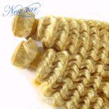 I capelli brasiliani ricci crespi biondi di prezzi all'ingrosso tessono