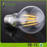 Venta caliente E27 B22 6W 8W de sustitución de lámparas incandescentes de 60W 2700K 6000K Vintage bombilla de incandescencia LED