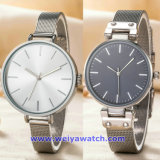 De Digitale Horloges van de Manier van het Horloge van het Kwarts van het Embleem van het Merk van de douane van Gouden Kleur (wy-17006D)