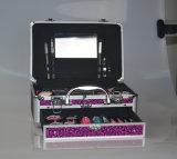 引出しとの専門の装飾的なスーツケースの構成のケース