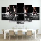 Картины холстины напечатали изображения холстины искусствоа стены спортов поднятия тяжестей 5 частей для живущий декора дома спальни комнаты