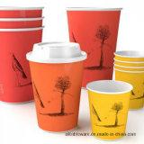 Изготовленный на заказ логос кофейные чашки 12 Oz устранимые горячие бумажные, крышки, втулки, активный сторновки