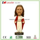 Bobble подгонянный Figurine Polyresin Иисус Bobblehead для домашнего украшения, Bobble головка