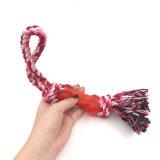 Haustiere geknotetes Seil mit Gummihundespielzeug