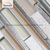 Aluminio y Vidrio, Piedra Mosaico mixtos para la Decoración de pared
