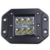Het auto LEIDENE CREE Werkend Licht 18W Licht e-TEKEN van de Kubus R10 R23 Ce van ECE RoHS IP67