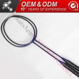 De vierkante Hoofd GrafietRacket van het Badminton van de Koolstof van de Goederen van de Vorm van ISO Sportieve