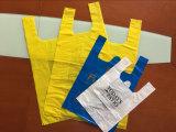 생물 분해성 로고에 의하여 인쇄되는 조끼 부대 옥수수 녹말 t-셔츠 플라스틱 쇼핑 백