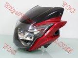 Yogのオートバイの背面図の側面ミラーTVアパッシュ180