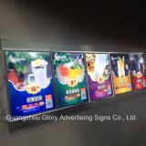 Perfil de aluminio Super Slim Snap Frame Publicidad LED Light Box