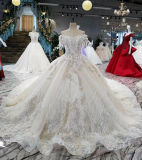 Aoliweiya 2018 off Fractius ombro/Marfim vestido de esferas de casamento