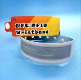 使い捨て可能なMIFARE標準的な1K RFIDのリスト・ストラップのブレスレットにアクセスしなさい