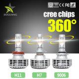 Color opcional 3000K 6500K 8000K 12V H4 Kit de faros LED